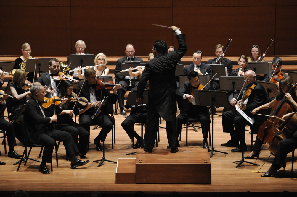 David Bernard conducting the Park Avenue Chamber Symphony