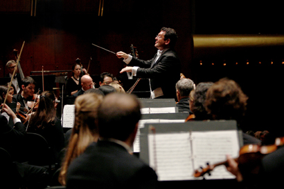 """David Bernard conducting the Park Avenue Chamber Symphony""  Photo: Jennifer Taylor"