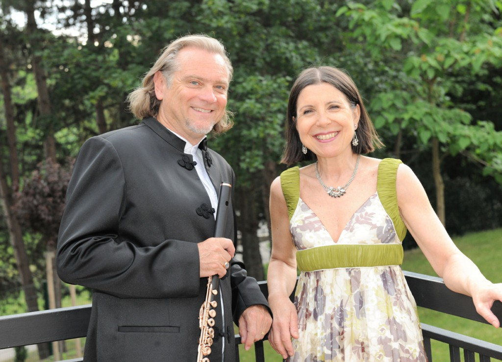 Patrick Gallois, flutist  and Maria Prinz, pianist