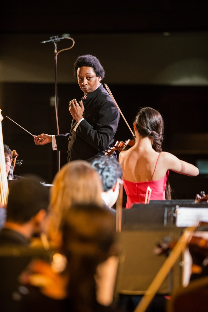 Gwendolyn Howard, violin, Marlond Daniel, conductor and Ensemble du Monde