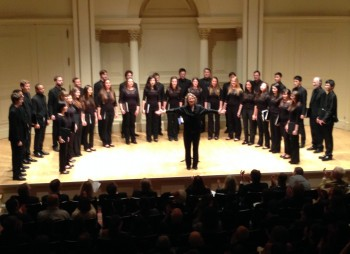 the UC Berkeley Chamber Choir led by Marika Kuzma.