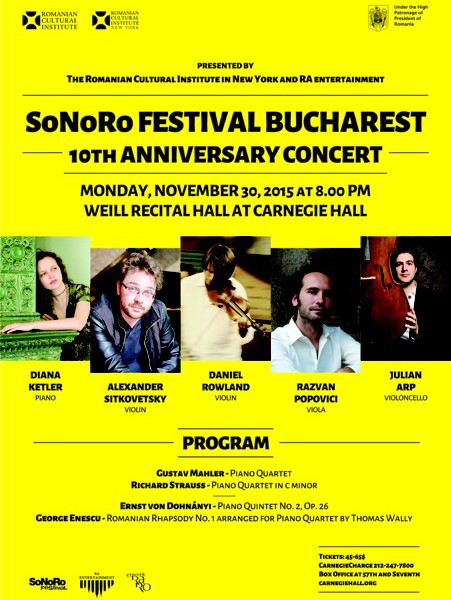 SoNoRo Festival Bucharest 10th Anniversary Concert in Review